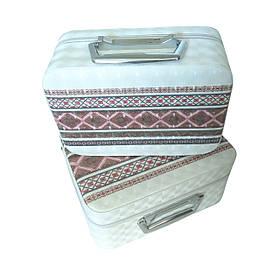 Набір бьюті-кейсів для зберігання косметики та аксесуарів (орнамент, вишиванка)