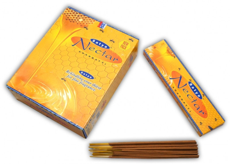 9130034 Satya Nectar Incense (плоская пачка) 45 грамм