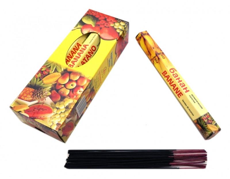 Ароматические палочки RAJ BANANA (шестигранник) Банан