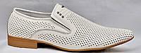 Распродажа. Летние мужские туфли из натуральной кожи. Только 40 размер. Patriot 14L301.