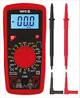 Мультиметр для измерения электрических параметров с LCD-дисплеем Yato YT-73081