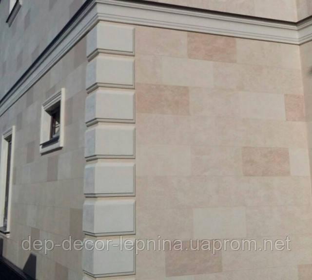 Фасадный Руст, Боссаж, Отделка углов дома пенопластом