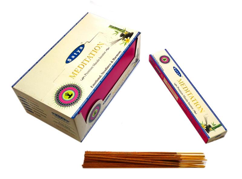 Ароматические палочки Satya Premium Meditation (Медитация)