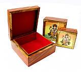 9160166 Шкатулка с картинками из полудрагоценных камней Ганеш, фото 2