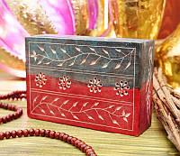 9170043 Шкатулка каменная крашенная арт.9939