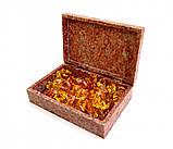 9170282 Шкатулка каменная крашенная арт.9971, фото 2
