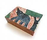 9170282 Шкатулка каменная крашенная арт.9971, фото 3
