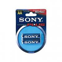 Батарейки пальчиковые LR06 Sony stam. бл2 (96/24) Артикул: 01702
