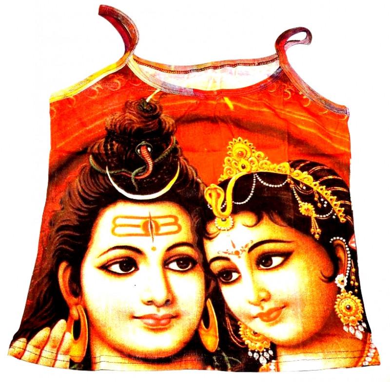 Футболка женская на лямках цветная Шива с Парвати