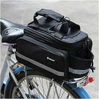 УЦЕНКА!Велосумка/баул,велосипедная раскладная сумка Трансформер на багажник GIANT,сумка на багажник велосипеда, фото 1
