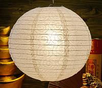 9050003 Фонарь бумажный 'ШАР с дырками Спираль' Белый
