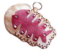 9040085 Кошелёк для мелочи или ключей кожаный 'Рыба'.
