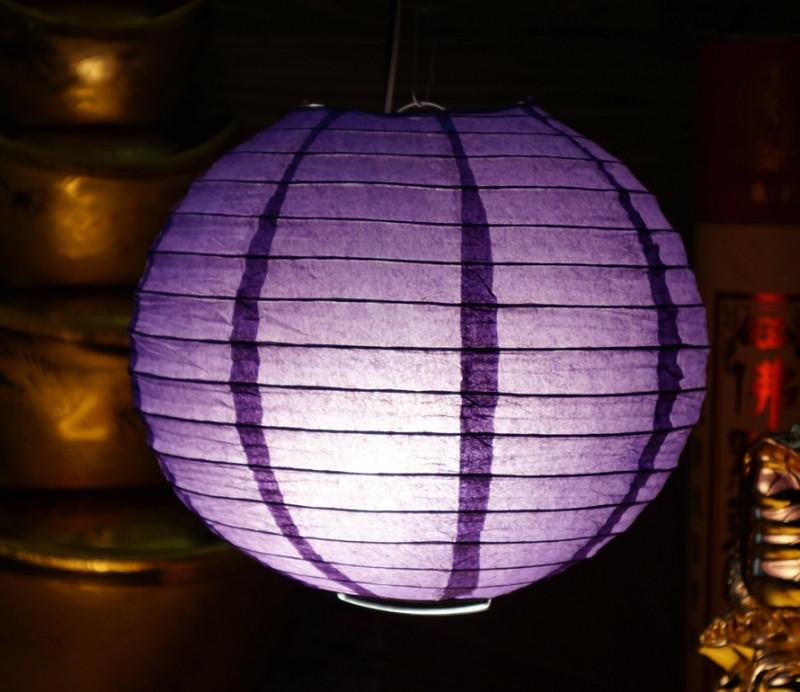 9050041 Фонарь бумажный 'ШАР без рисунка' Тёмно фиолетовый