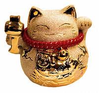 9320021 Счастливый кот - копилка Манеки Неко в золоте №2