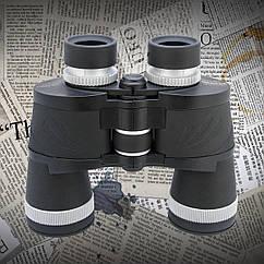Бинокль 10*50 CM WA Обрезиненный корпус, поворотно-выдвижные наглазники (для тех кто носит очки) + чехол