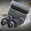 Бинокль 10*50 CM WA Обрезиненный корпус, поворотно-выдвижные наглазники (для тех кто носит очки) + чехол, фото 4