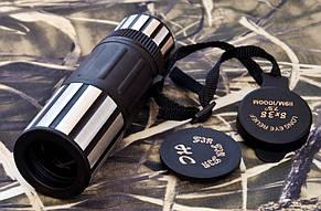 Монокуляр 8*38 HC обрезинен ударопрочный корпус, с защитным колпачком, шнурок для ношения + чехол