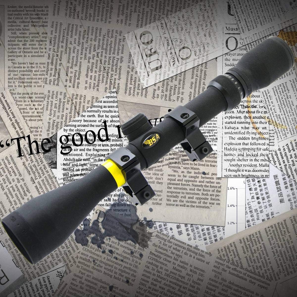 Прицел BSA Sweet 3-12*40 MilDot крепление ласточкин хвост, ручной ввод поправок, защитные колпачки