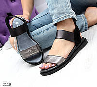 Босоножки сандалии женские из натуральной кожи и замши на резинке люкс качество