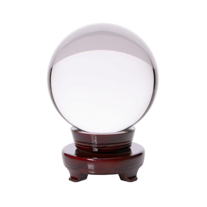 9190054 Шар 'Хрустальный' на деревянной подставке d=15см.