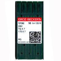 Иглы для промышленных швейных машин 2091/175X7/29L/TQX7 100 RG Groz-Beckert