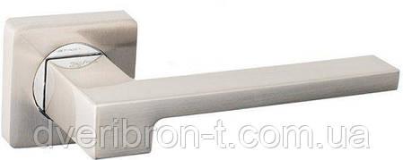 Дверные ручки Safita R11H 212 MAB матовая бронза, SN матовый никель, фото 2