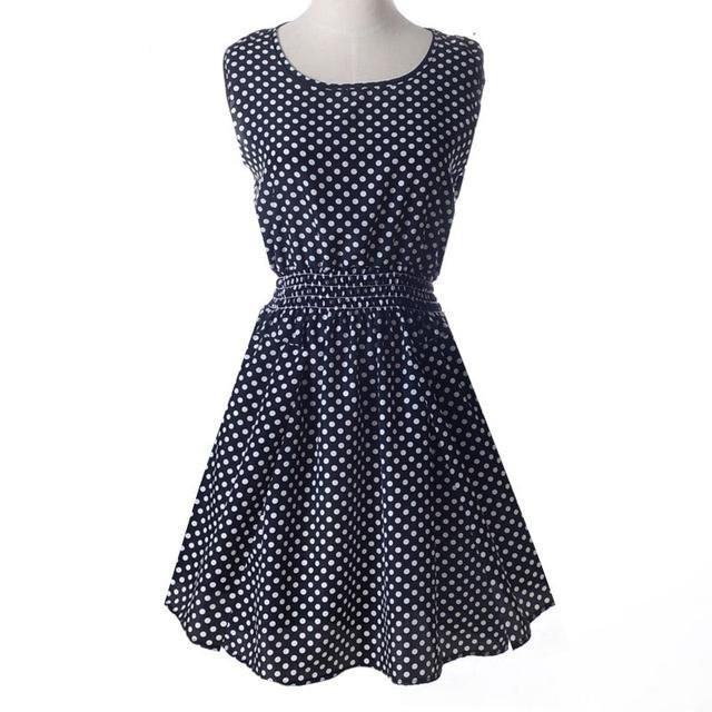 Платье сарафан летнее Горошек мелкий Liva Girl