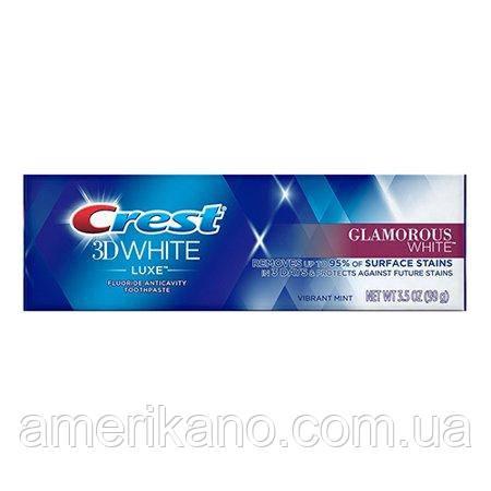 Отбеливающая зубная паста Crest 3D White Luxe Glamorous White Vibrant Mint 99 грамм