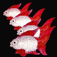 9190118 Набор из четырёх красных рыбок