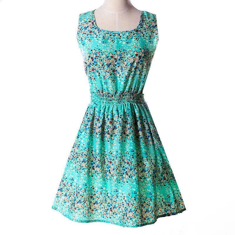 Платье сарафан летнее Бирюза цветы Liva Girl