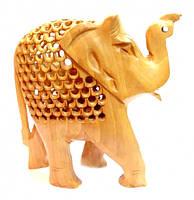 9160077 Слон в слоне дерево кедр С1633-6'