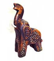 9160039 Слон деревянный крашенный воском С4383-6'