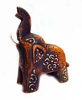 9160037 Слон деревянный крашенный воском С4383-4'