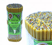 9060002 Свечи восковые церковные пучек 1 кг. Натуральный цвет №60