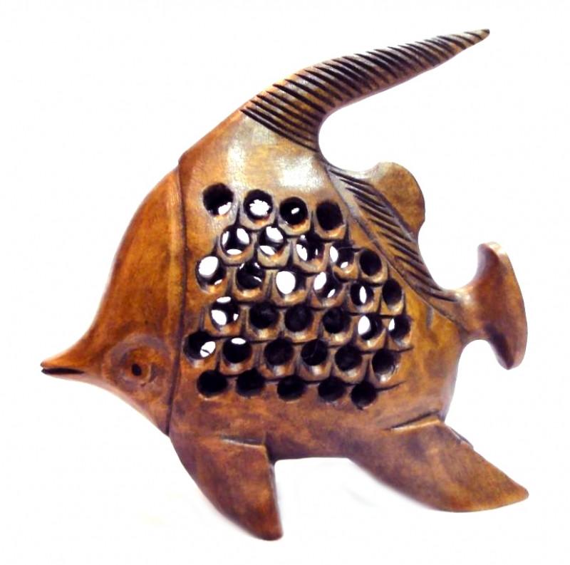 9160127 Рыба деревянная эвкалипт С4979-4'