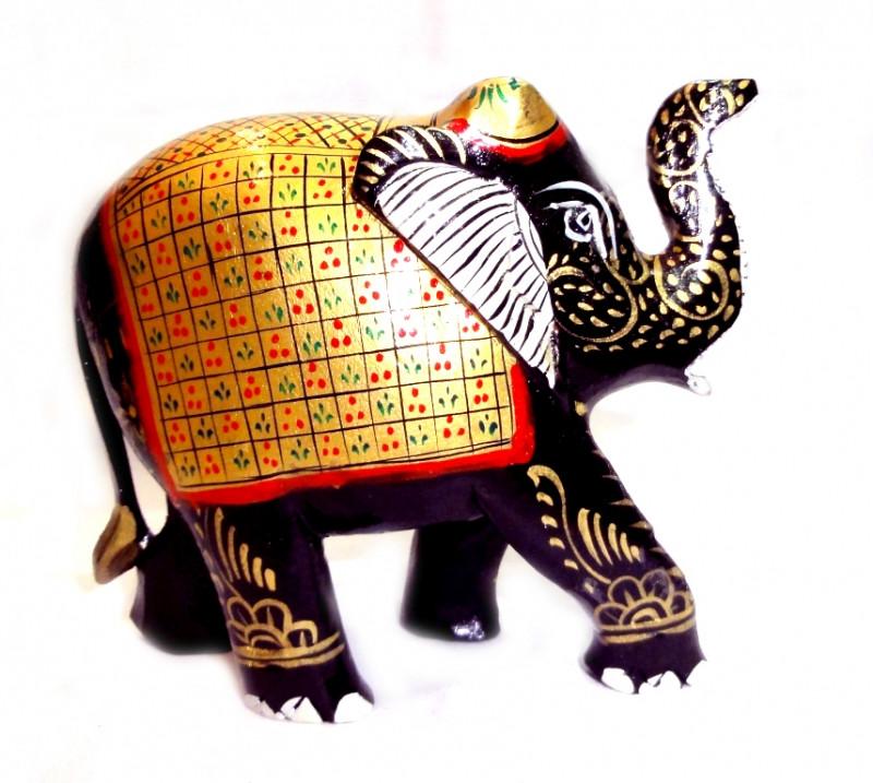 9160048 Слон деревянный стиль 'хохлома' С6122-4'