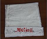 Крыжма вязаная для крещения плед Melisa, фото 4