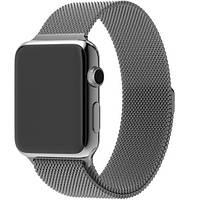 Миланский сетчатый браслет Milanese Loop Band for Apple Watch 38/40 mm space gray