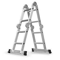 Лестница трансформер алюминиевая + рабочая поверхность Humberg 4x2 (8089)