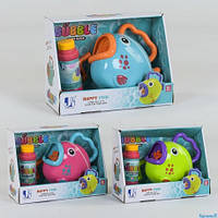 """Машина для мыльных пузырей P 8808 """"Рыбка"""" 3 цвета, в коробке(P 8808)"""