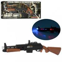 Ружье 801A-2 56см, звук, свет, вибро, на бат-ке, в кор-ке, 61,5-20-4,5см(Збр  801A-2)