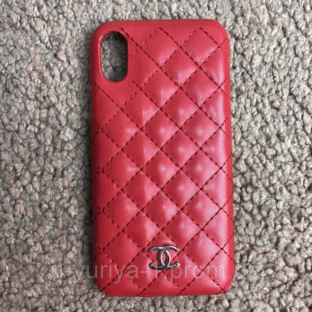 new product ff8ed 89766 Chanel Iphone X Case Quilted Double C Red