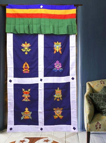 9040387 Занавеска дверная Тибетская с вышивкой №1