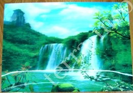 9040083 Постер голографический №1 Водопад