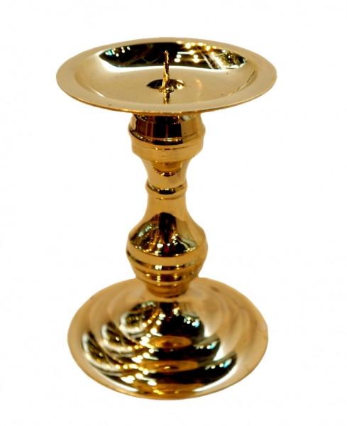 9370115 Подсвечник на 1 свечу желтый метал Арт.26007