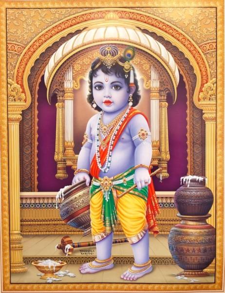 9040059 Постер 'Индийские боги' Маленький Кришна Jothi A-3666