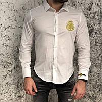 Billionaire Shirt Diamond Cut LS Farlow White