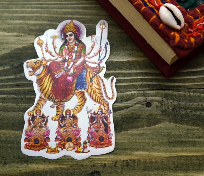 Стикер бумажный 'Индийские боги' №35