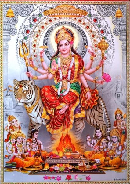 9040041 Постер 'Индийские боги' Дурга NIRMAL 8606