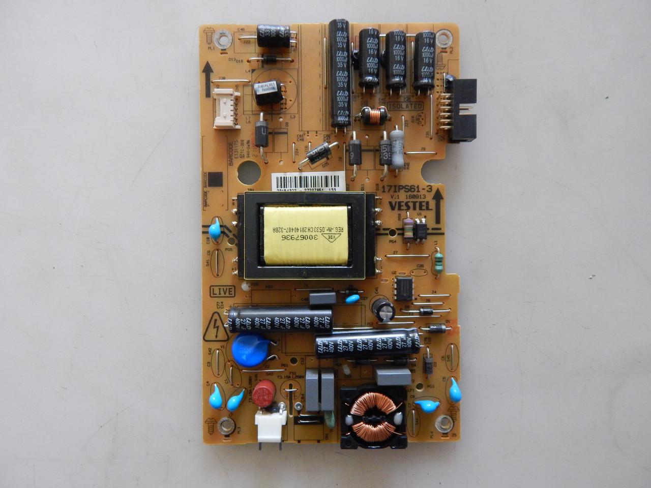 Блок живлення 17IPS61-3 до телевізора TELEFUNKEN L28H275N3